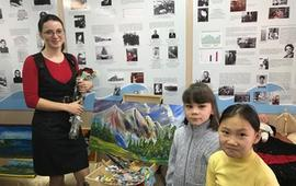Посещение персональной выставки художника Ирины