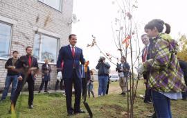 Глава Ненецкого округа Александр Цыбульский принял участие в акции «Живи, лес!»